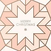 Greeting card with geometric Snowflake. stock illustration