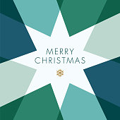 Greeting card with geometric Star. stock illustration