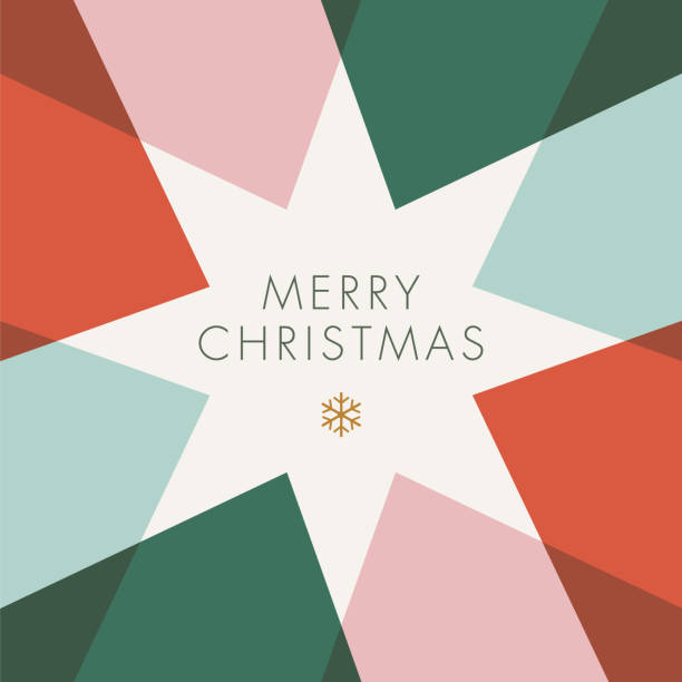greeting card with geometric star. - holiday season stock illustrations