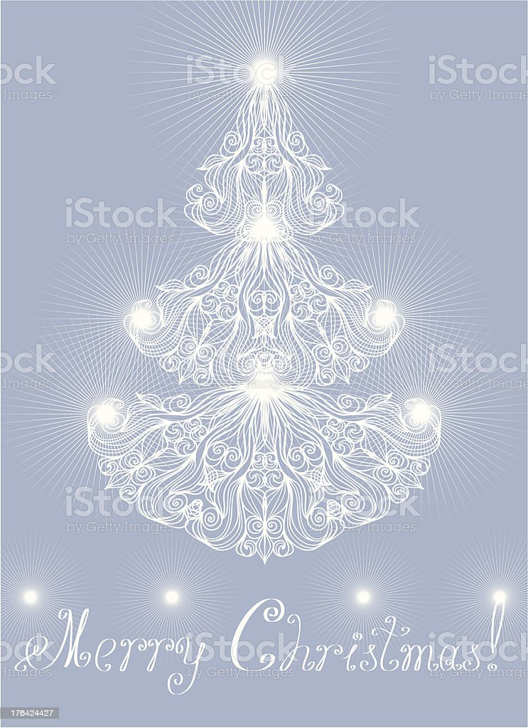 Greeting card with lacy pine royalty-free greeting card with lacy pine stock vector art & more images of abstract