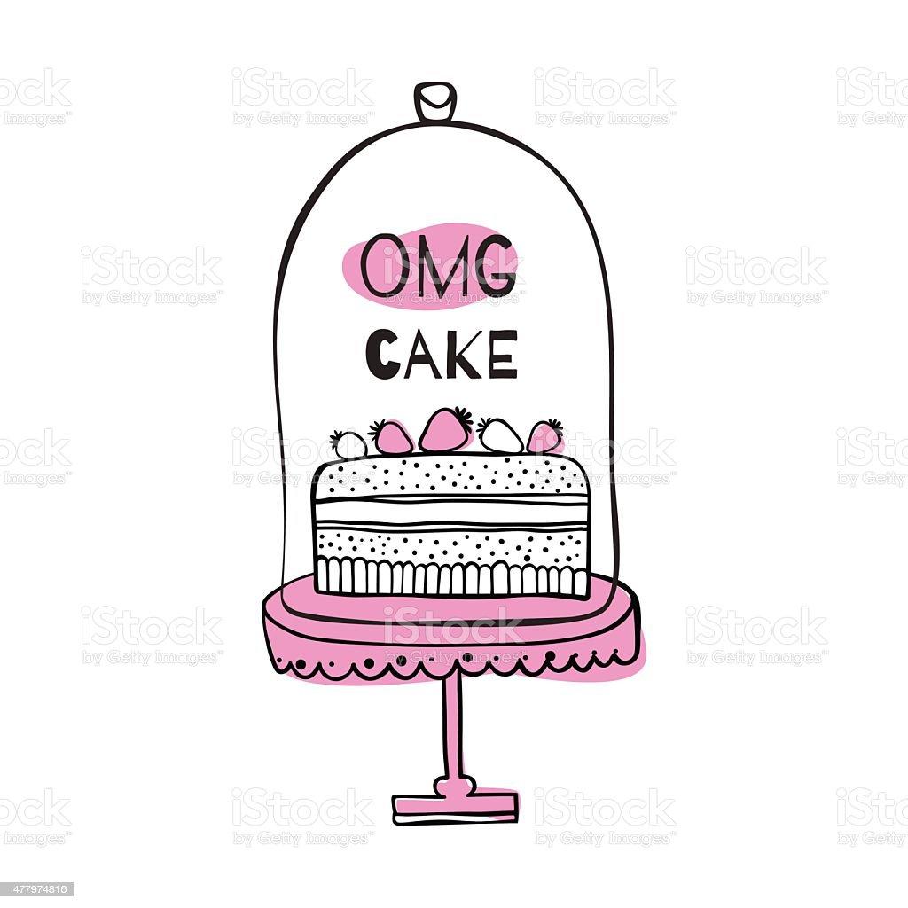 Grusskarte Mit Angebot An Kuchen Stock Vektor Art Und Mehr Bilder Von