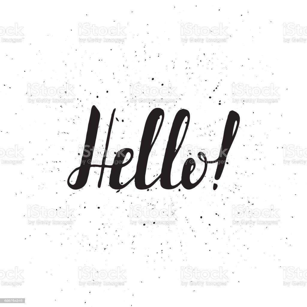 Greeting card with ribbon and word Hello. Vintage ribbon for card or banner greeting card with ribbon and word hello vintage ribbon for card or banner - immagini vettoriali stock e altre immagini di arte royalty-free