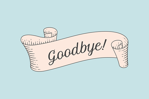Goodbye stock illustrations
