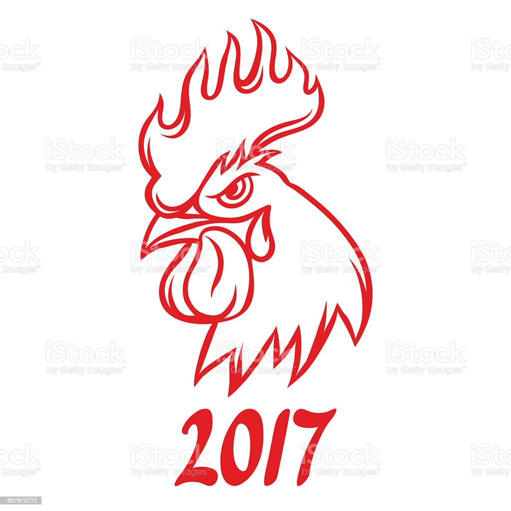 Greeting card with rooster symbol of 2017 by chinese calendar stock greeting card with rooster symbol of 2017 by chinese calendar royalty free greeting card with kristyandbryce Images