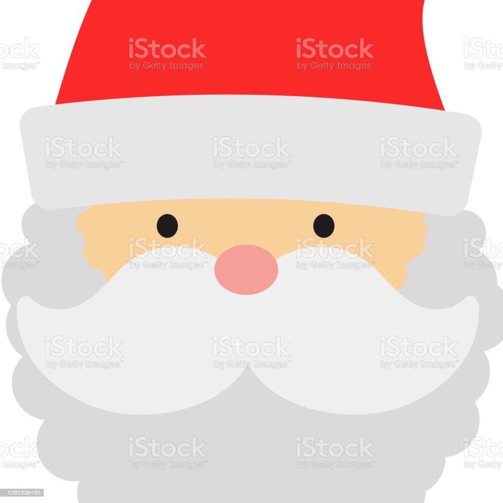 Vetores De Cartão Com Rosto De Papai Noel Principal Grande E