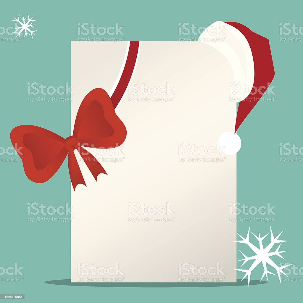 greeting card with santa hat royalty-free stock vector art