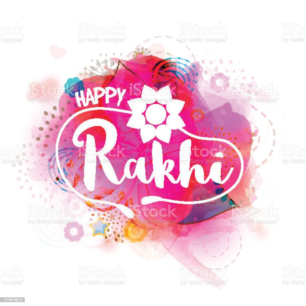 Greeting card with stylish text for happy rakhi stock vector art greeting card with stylish text for happy rakhi royalty free greeting card with stylish m4hsunfo