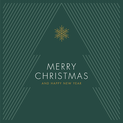 Greeting card with stylized Christmas Tree.