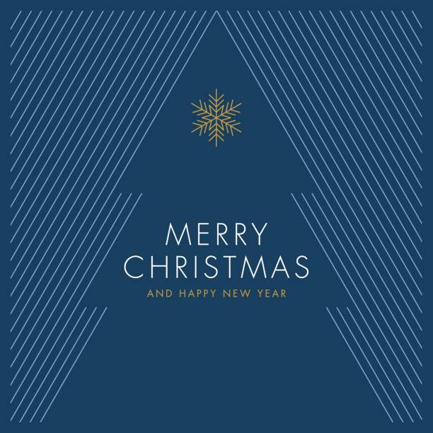 Greeting card with stylized Christmas Tree vector art illustration