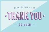 Greeting card with text Thank You so much