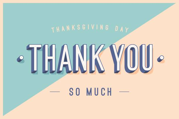 bildbanksillustrationer, clip art samt tecknat material och ikoner med gratulationskort med text tack så mycket - tacksamhet