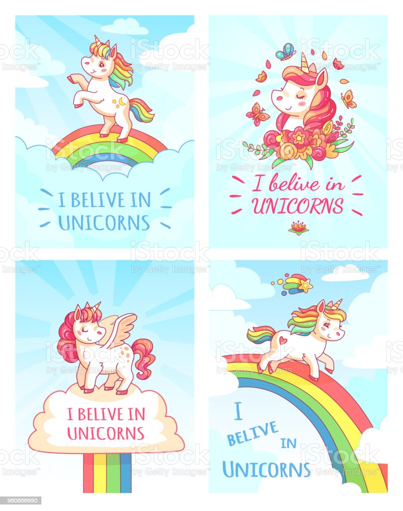 Grußkarte Design Für Mädchen Mit Slogan Zu Schreiben Ich Glaube An ...