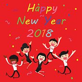 greeting cardbusiness new year card 2018