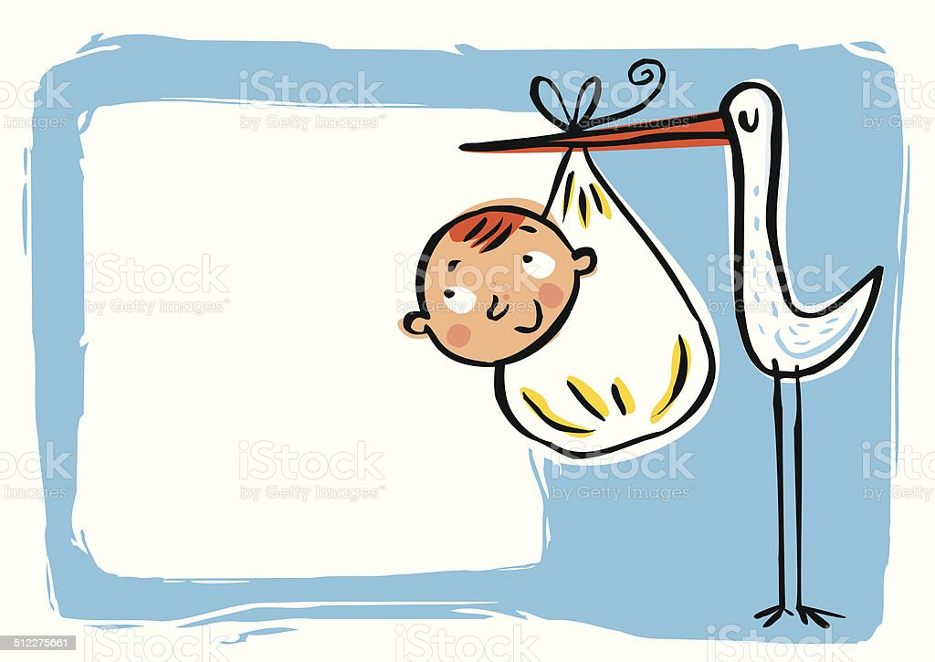 Greeting Cards by birth of baby vector art illustration