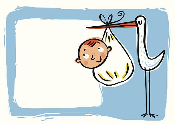 Tarjetas de felicitación por Nacimiento de bebé - ilustración de arte vectorial