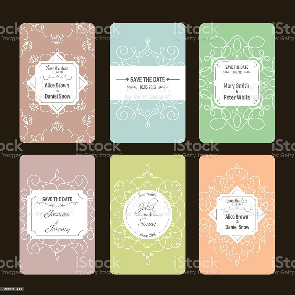 Greeting cards collection royalty-free greeting cards collection stock vector art & more images of abstract