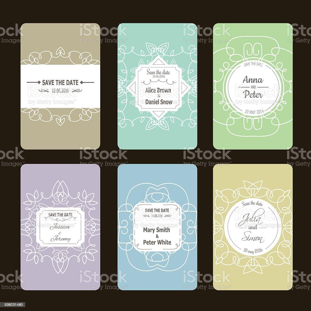 Coleção de cartões de saudação ilustração de coleção de cartões de saudação e mais banco de imagens de abstrato royalty-free