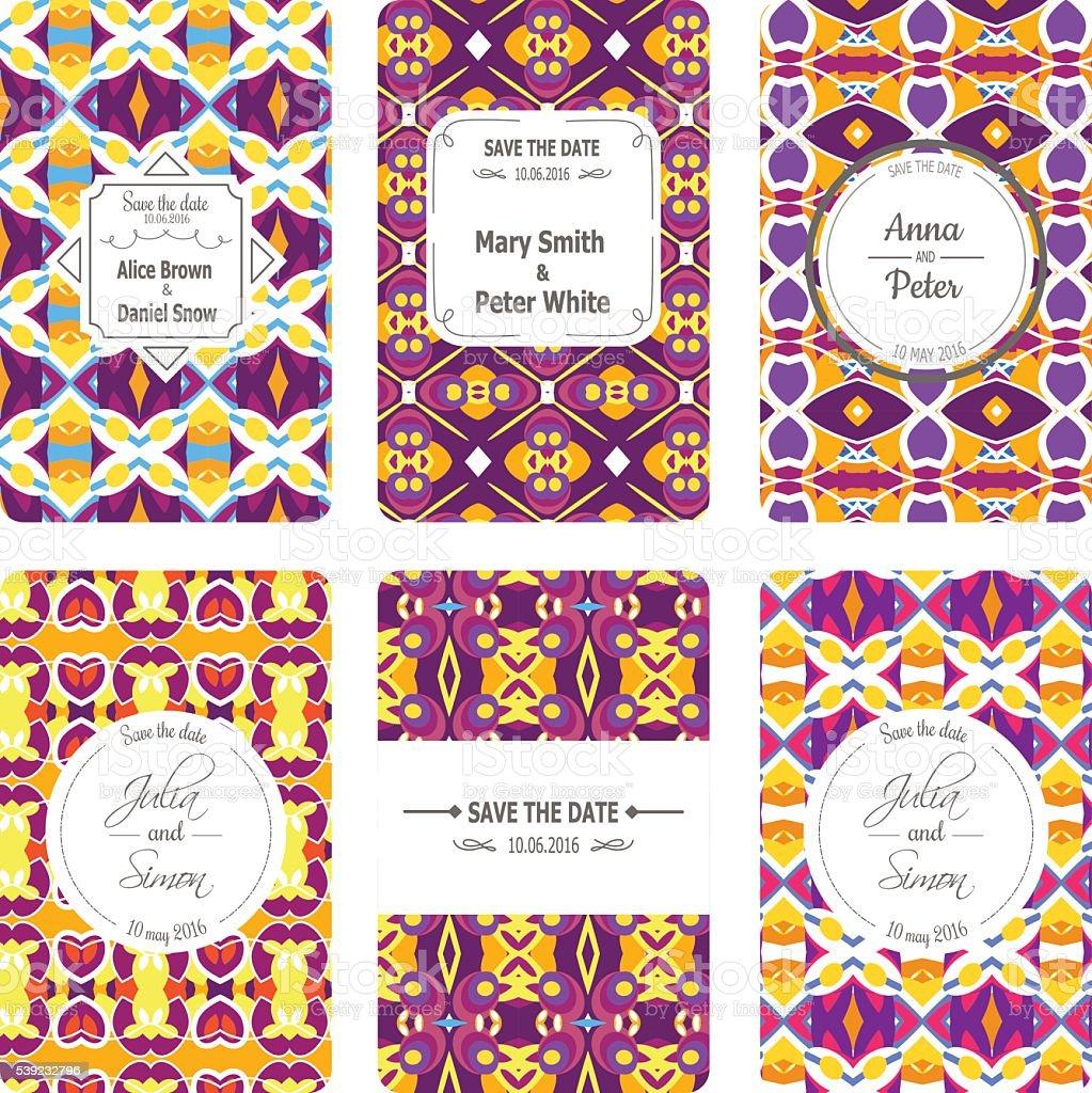 Colección de tarjetas de felicitación ilustración de colección de tarjetas de felicitación y más banco de imágenes de abstracto libre de derechos