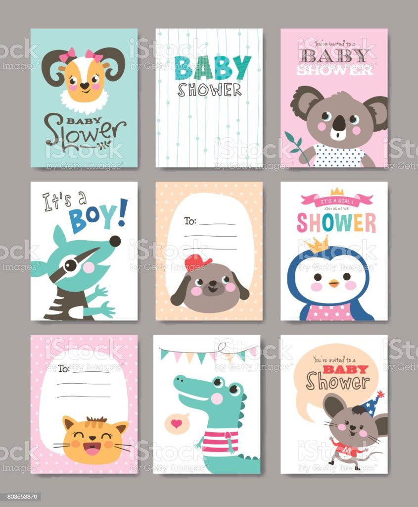 Greeting cards vector art illustration