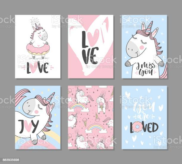 Greeting cards with cute unicorns hand written text vector id883905698?b=1&k=6&m=883905698&s=612x612&h=z19illuysvbdy2a0clbquhbospgzdf4skbjhdy9zrie=
