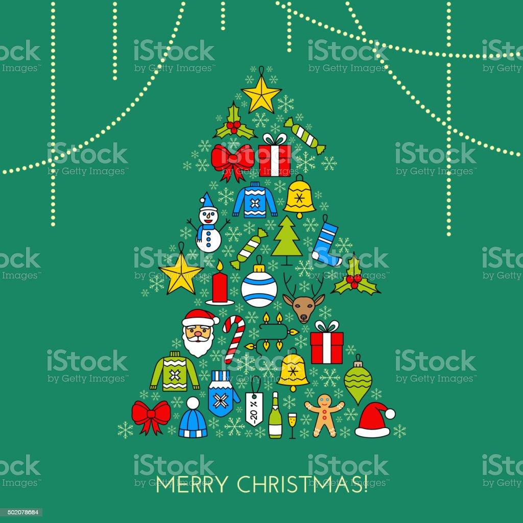 Begrüßung Christmas Karte Stock Vektor Art und mehr Bilder von 2015 ...