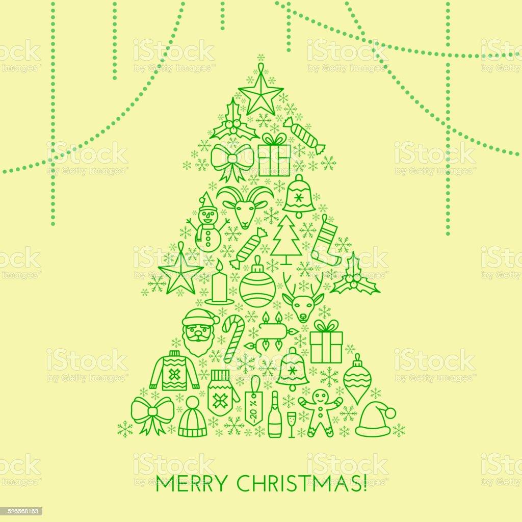 Begrüßung Christmas Karte Stock Vektor Art und mehr Bilder von ...