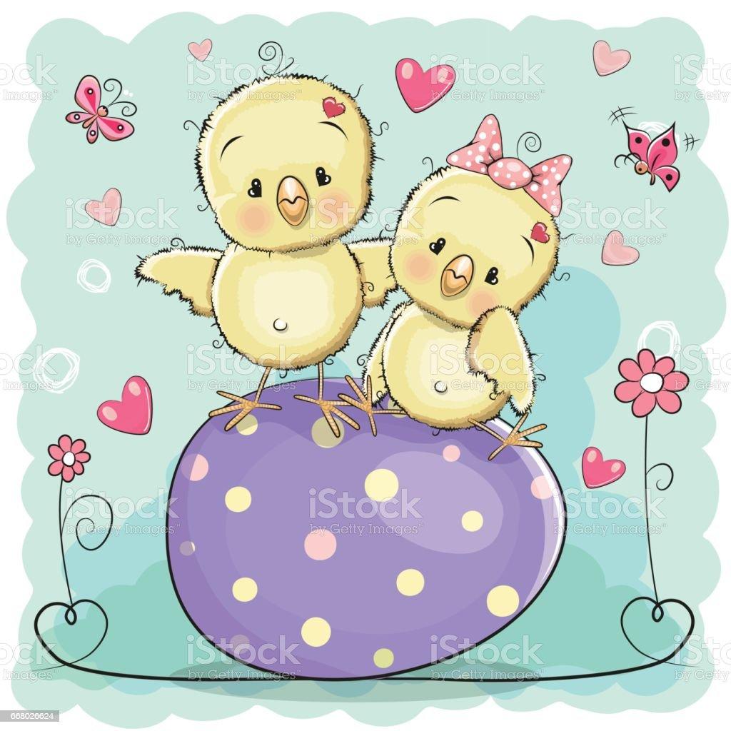 Greeting Easter card vector art illustration