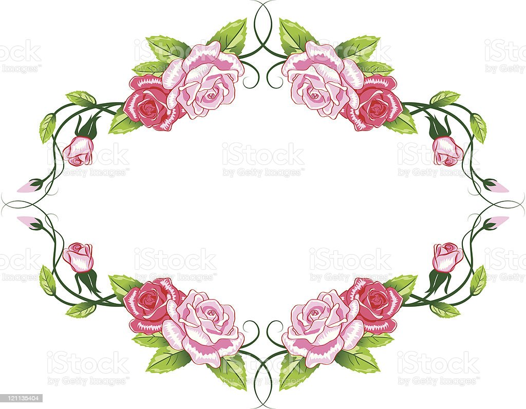 Greeting floral rose card royalty-free stock vector art