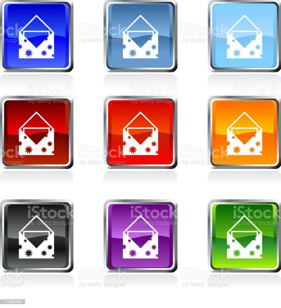 Greeting Invitation card royalty free vector art in nine colors royalty-free stock vector art