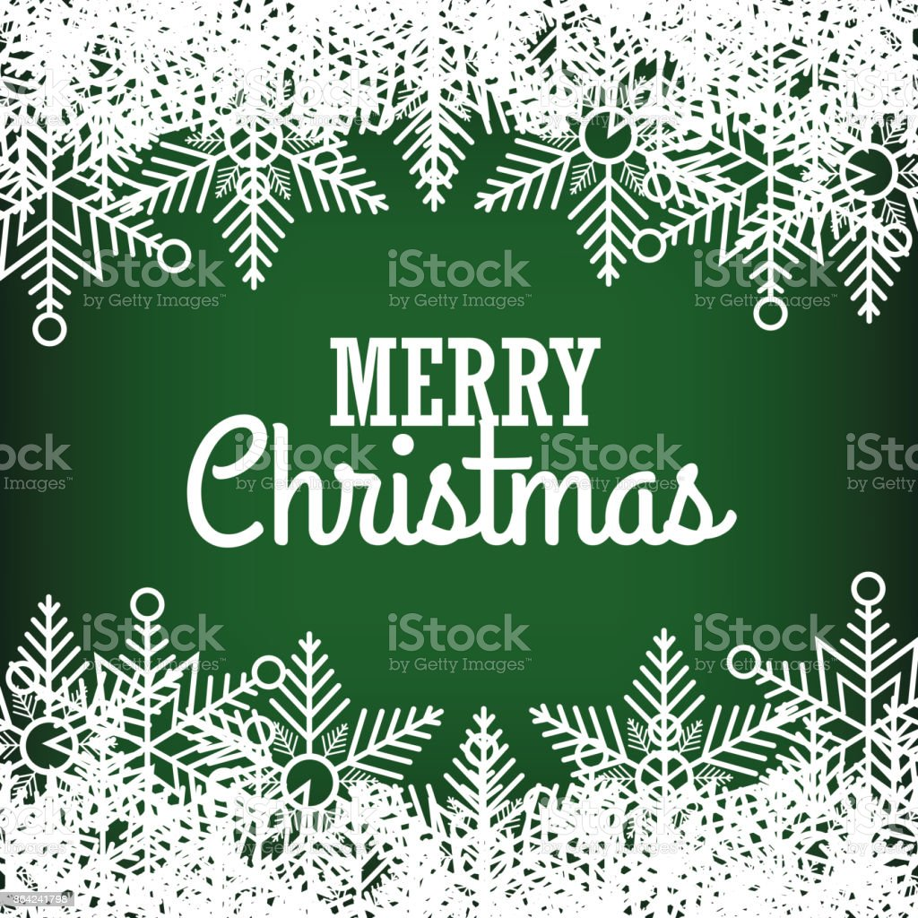greeting merry christmas green with snowflake graphic royalty-free greeting merry christmas green with snowflake graphic stock vector art & more images of abstract
