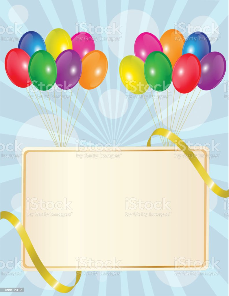 greeting sign with balloons royalty-free greeting sign with balloons stock vector art & more images of anniversary