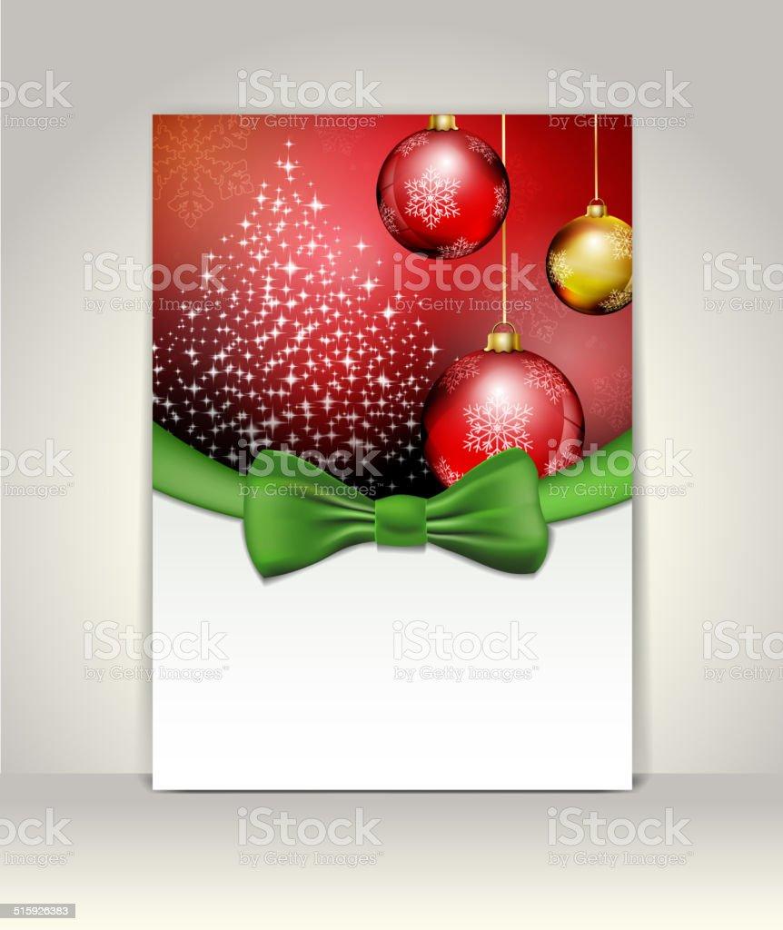 Begrüßung Vorlage Frohe Weihnachten Und Glückliches Neues Jahr Stock ...