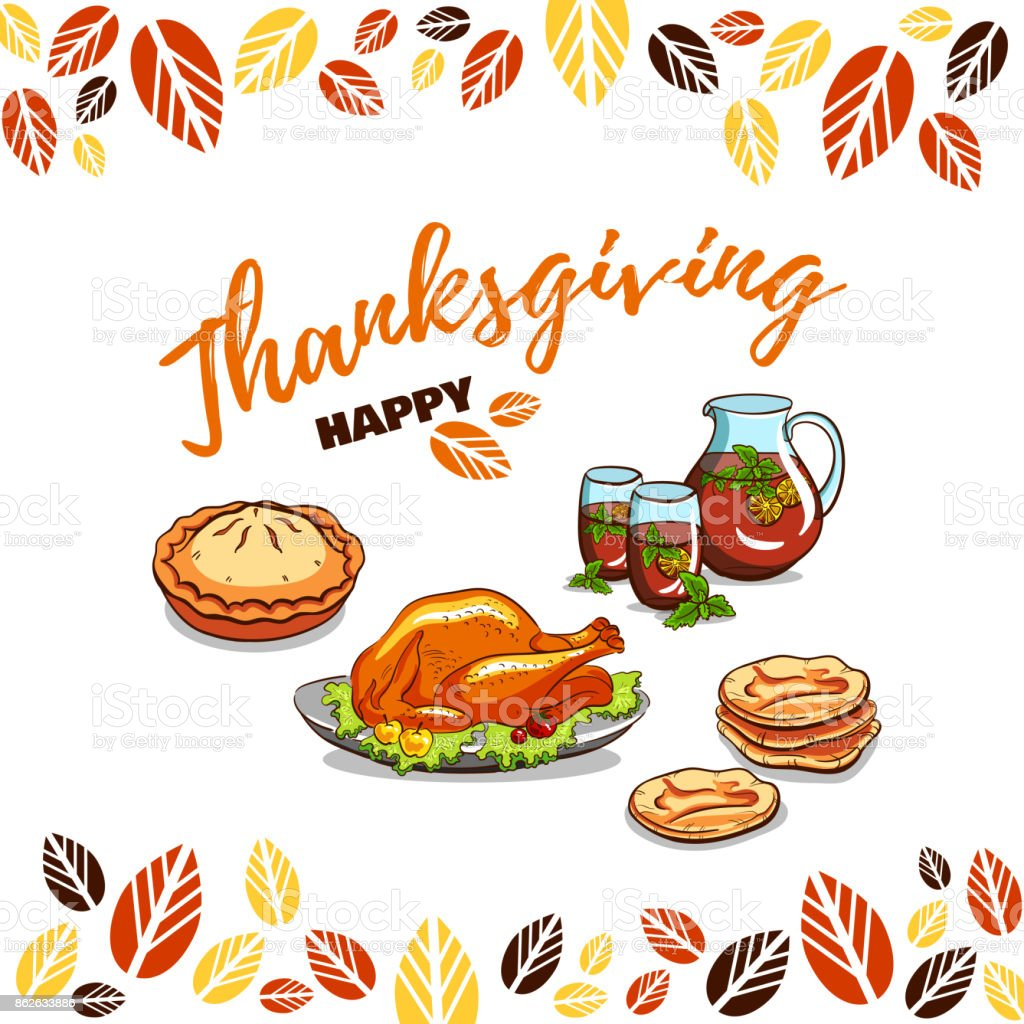 Greeting_Card_Happy_Thanksgiving vector art illustration