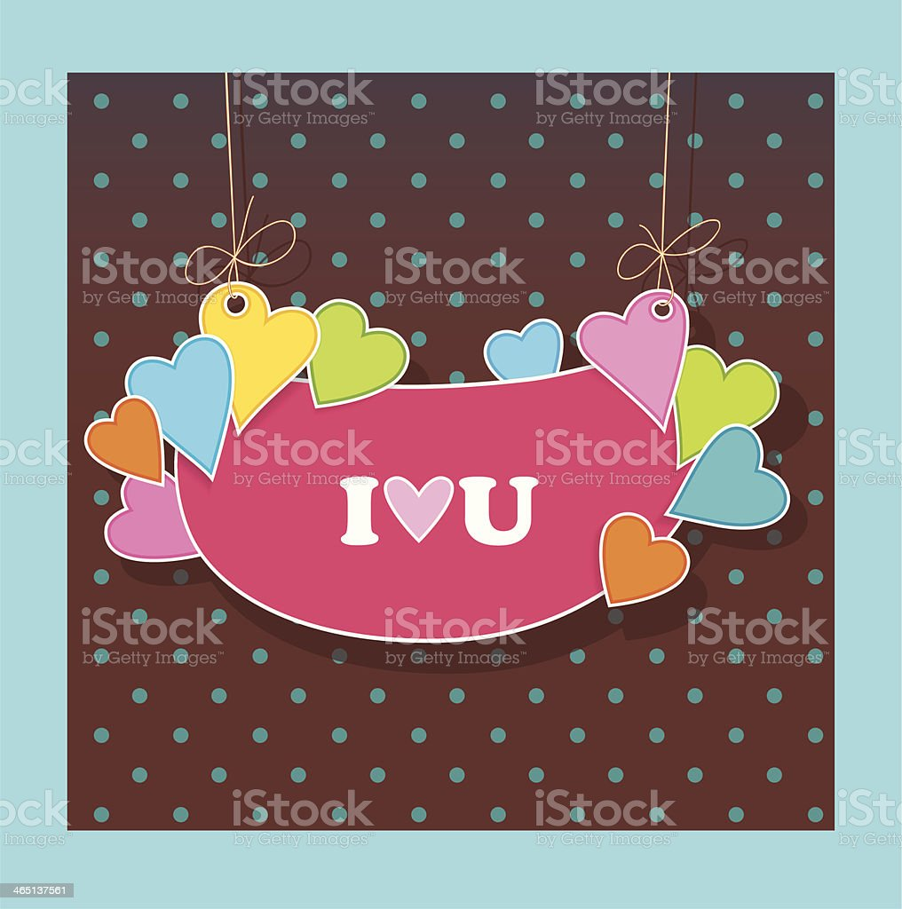 Greetings Card For Lovers Declaration Of Love Stock Vector Art