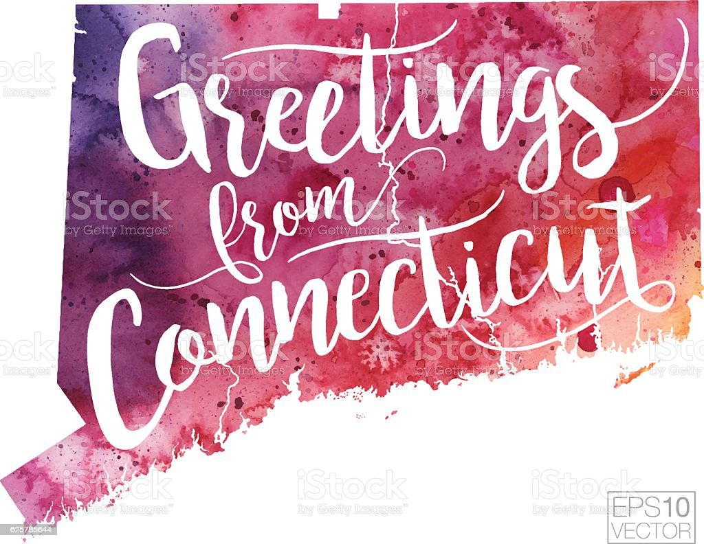Greetings from connecticut vector watercolor map stock vector art greetings from connecticut vector watercolor map royalty free greetings from connecticut vector watercolor map stock kristyandbryce Images