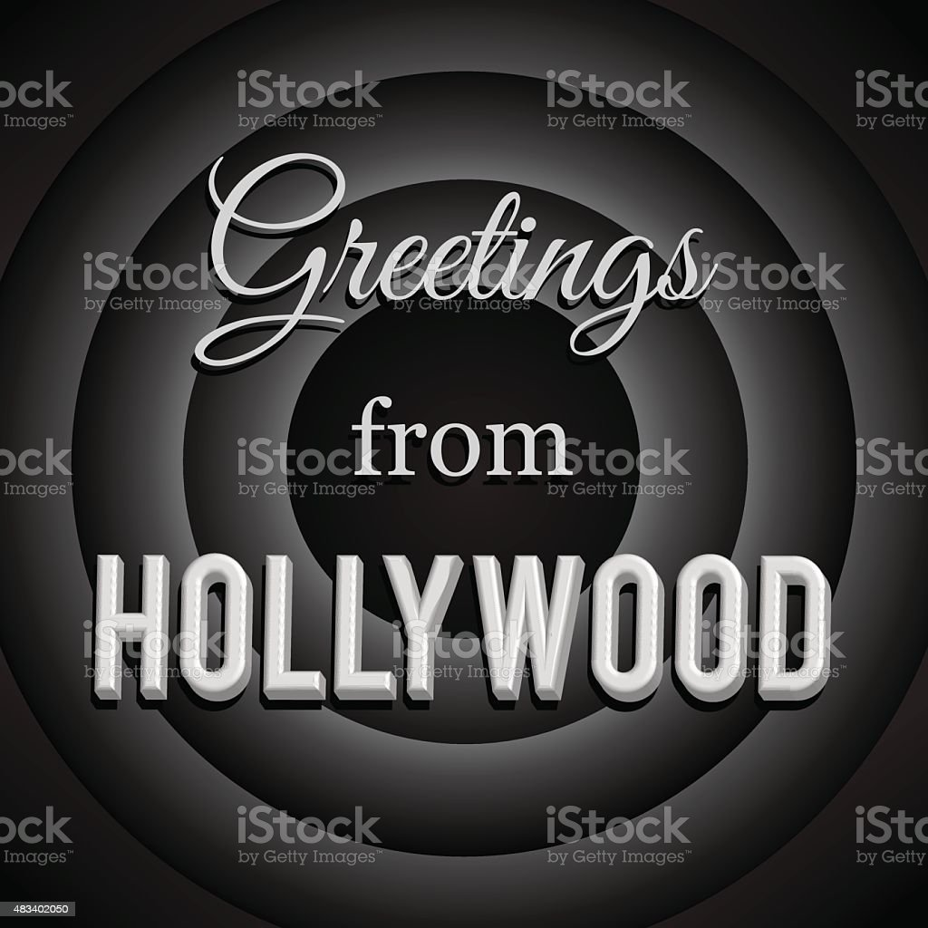 Greetings from Hollywood. vector art illustration
