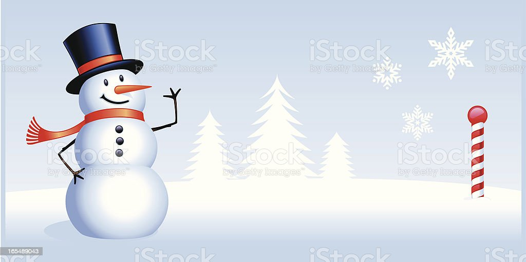 Greetings From The North Pole royalty-free stock vector art