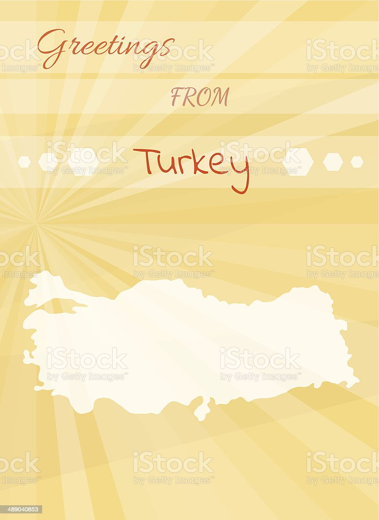 Greetings from turkey stock vector art 489040853 istock greetings from turkey royalty free stock vector art m4hsunfo