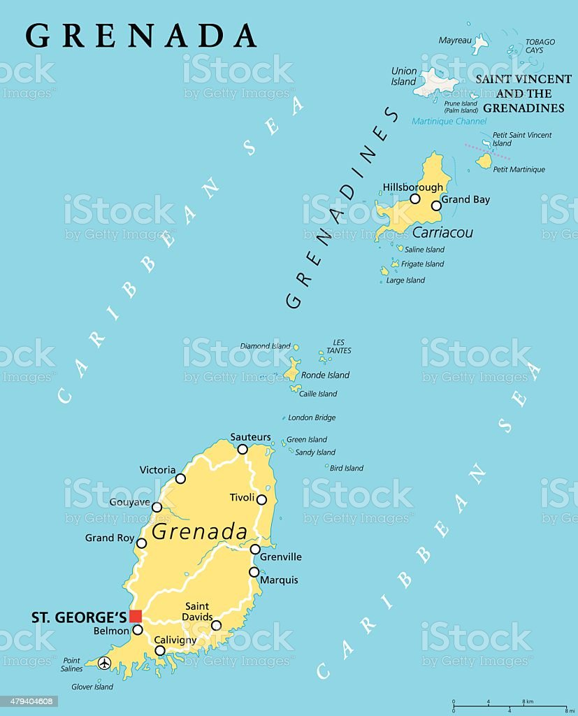 Picture of: Grenada Political Map Stock Illustration Download Image Now Istock
