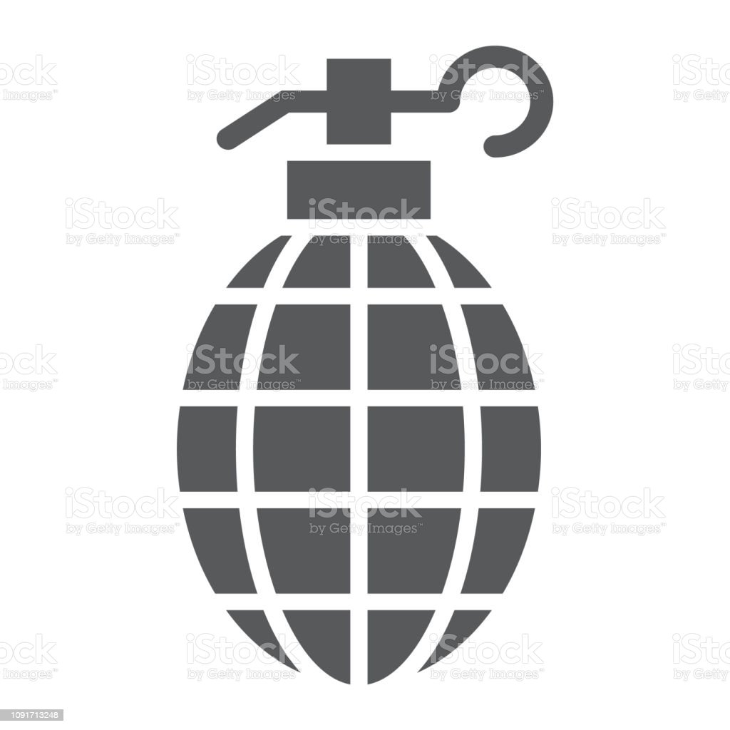 Vetores De Icone De Glifo De Granada Armas E Exercito Sinal De