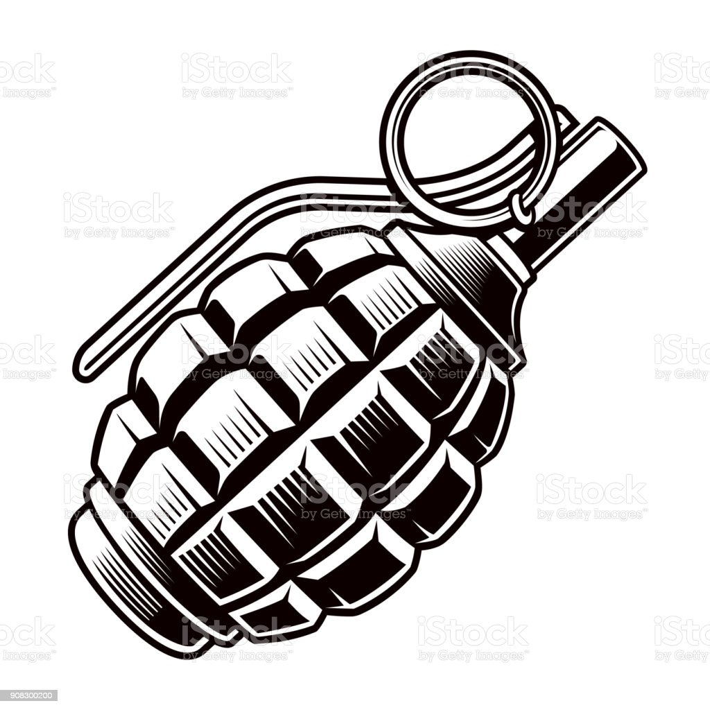grenade vector stock vector art more images of ammunition rh istockphoto com