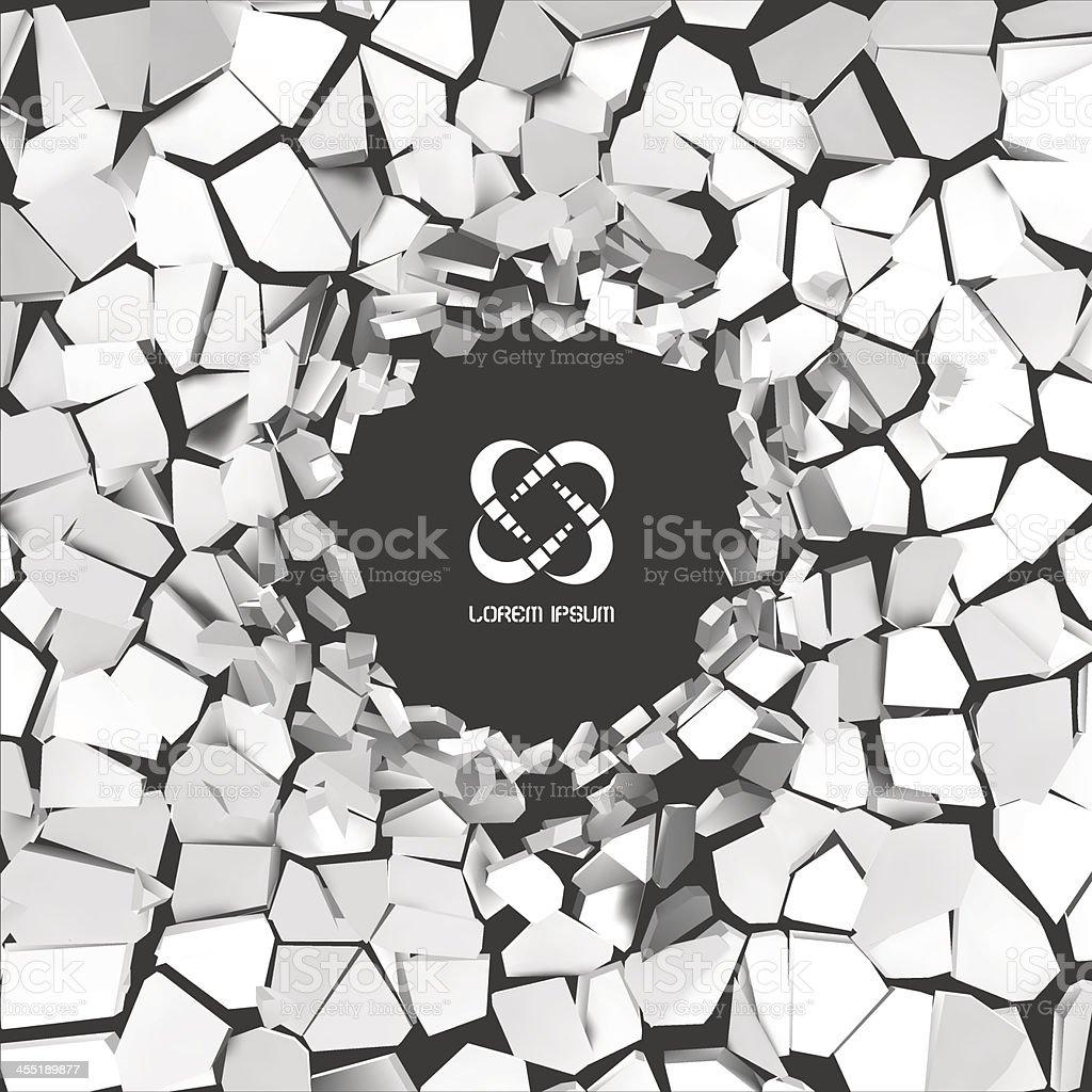 Grey abstract 3D computer generated illustration vector art illustration
