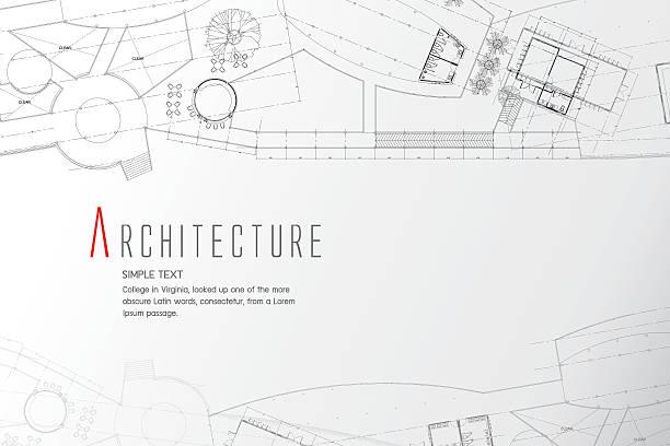 Resumen fondo gris. Arquitectura tema. Dibujos de trabajo - ilustración de arte vectorial