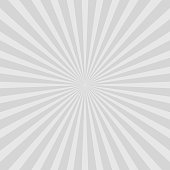 Grey abstract sun rays vector background