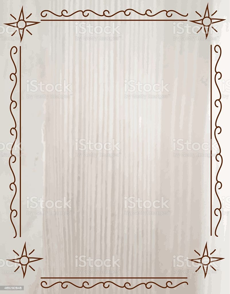 Grey And Beige Wood Grain Grunge With Line Art Design Frame Royalty Free