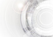 Grey and white futuristic technology abstract background