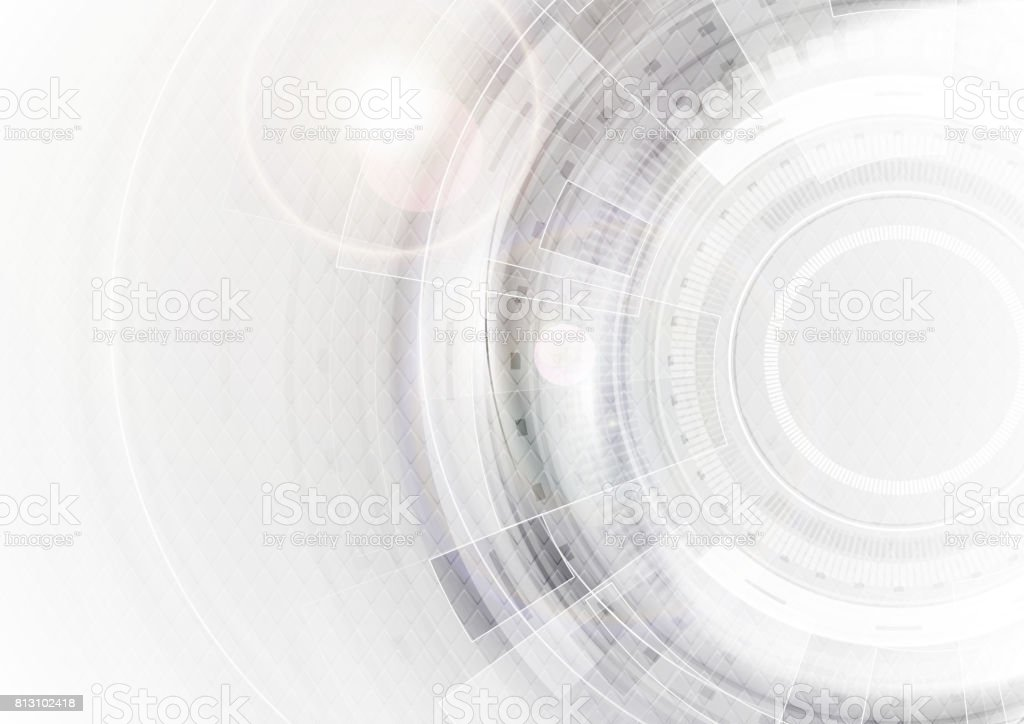 Grey and white futuristic technology abstract background vector art illustration