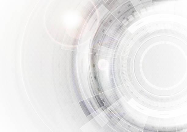 ilustrações, clipart, desenhos animados e ícones de abstrato de tecnologia futurista de cinza e branco - tecnology