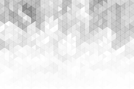Fondo gris y blanco triángulos geométricos.