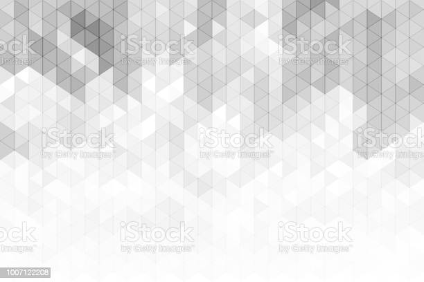 Grey And White Geometric Triangles Backgorund Stock Illustration - Download Image Now